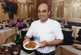 Chef Alfred Prasad of Tamarind of London in Newport Beach