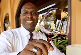Sir William Lewis of the Winery Restaurant and Wine Bar in Tustin