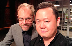 Chef jet Tila and Alton Brown