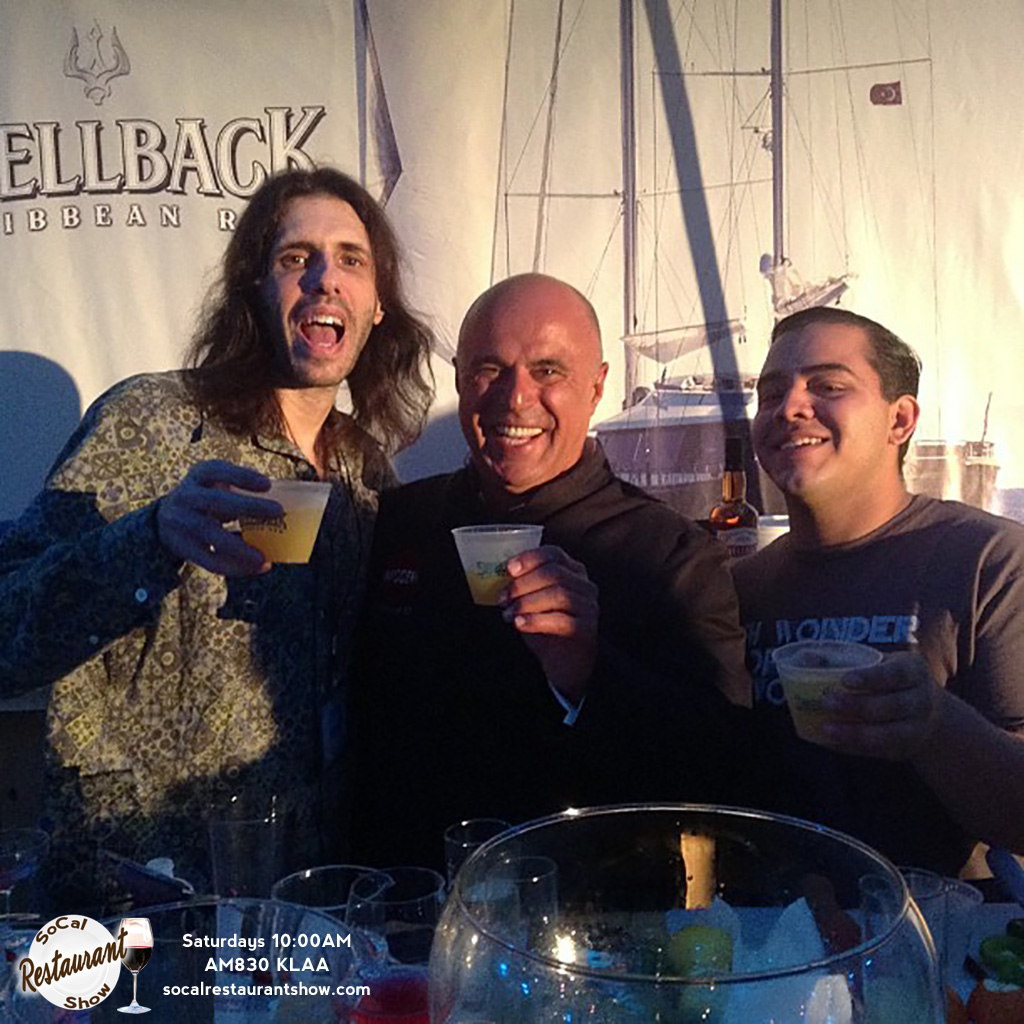 Adam Bell, Tony Abou Ganim and Sergio Alexander at Shellback Rum All Hands on Deck