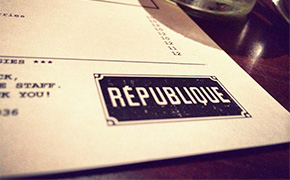 Republique Restaurant in Los Angeles