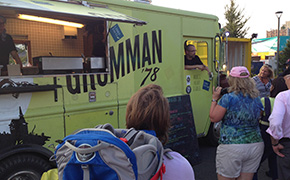 Grumman 78 Food Truck in Montreal at the Yuleat Festival