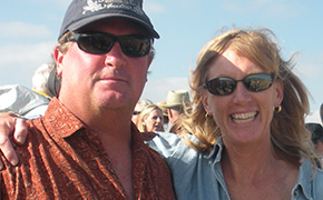 Dave and Tina Barnes of Crows Pass Farm