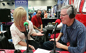 Suzanne Baird of the Ventura Visitors and Convention Bureau and Andy Harris