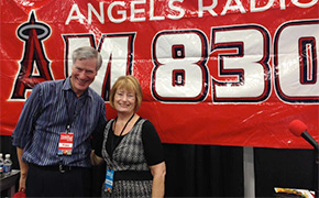 Andy Harris and Linda Kissam at the IFWTWEA booth at the San Diego Travel and Adventure Show