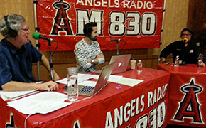 Andy Harris and Andrew Gruel at the Pechanga Wine Festival for Angels Radio AM830 KLAA