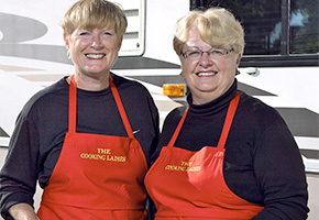 Phyllis Hinz and Lamont Mackay are the Cooking Ladies