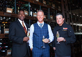William Lewis, JC Clow and Yvon Goetz of the Winery Restaurants and Wine Bar