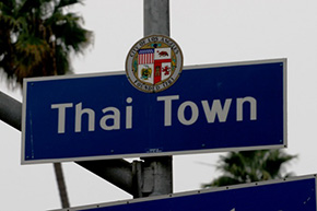 City of Los Angeles Thai Town Sign