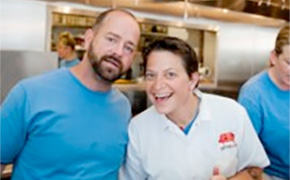 Chef Duskie Estes and Salumist John Stewart of Zazu Kitchen and Farm