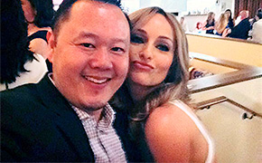 Jet Tila and Giada De Laurentiis
