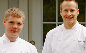 Skyler Stover and Philip Tessier oif Bocuse  D'Or Team USA