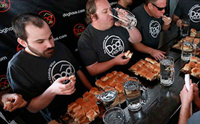 DogHaud Slider Eating Competition