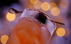 Sugar Plum Fairy Cocktail from Amber Billiard of Five Crowns