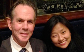 Thomas Keller and Young Yun of the Ment'or BKB Foundation