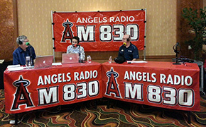 Andy Harris and Andrew Gruel at the Pechanga Wine Festival for Angels Radio AM830 KLAA