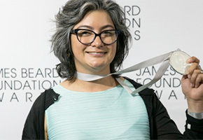 Dahlia Narvaez at the James Beard Awards