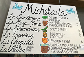 Michelada Menu at Alta Baja Market