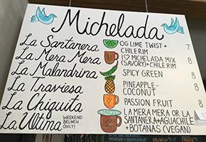 Michelada Menu at Alta Baja Market