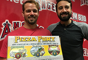 Trevor Walls of Pizza Port San Clemente and Chef Andrew Gruel