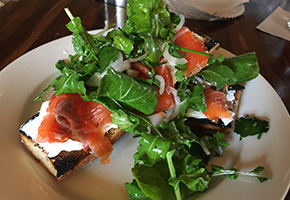 Smoked Salmon Toast for Brunch at 4th and Olive