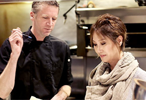 Juliette Chung and Chef Daniel Hyatt