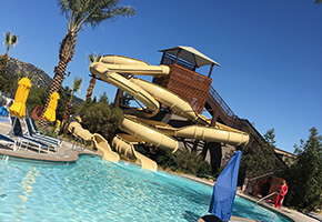 The Waterslide at the Cove at Pechanga Resort and Casino