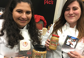 Savannah Wilkinson and Katherine Gonzales with their winning Panna Cotta recipe from Pic's Peanut Butter