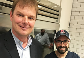 Tom Revier of Revier Cattle Company and Chef Andrew Gruel of Slapfish
