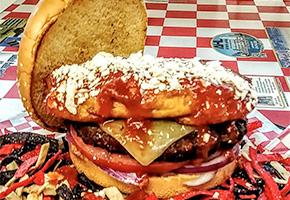 Mad Meline's Grill Chile Relleno Burger