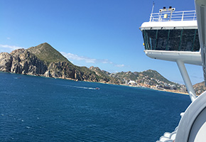 Ruby Princess arriving in Cabo San Lucus, Baja California