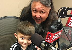 Wing and Levi Lam at the KLAA Studios
