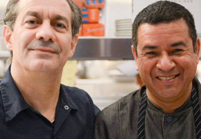 Angelo Auriana and Eduardo Perez of the Factory Kitchen