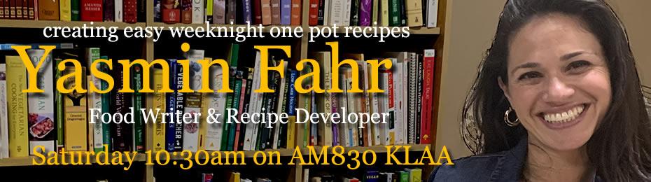 Food Writer and Recipe Developer Yasmin Fahr