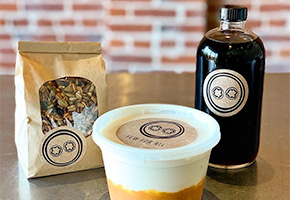 Pick me Up Kit featuring granola, greek yogurt and cold brew coffee