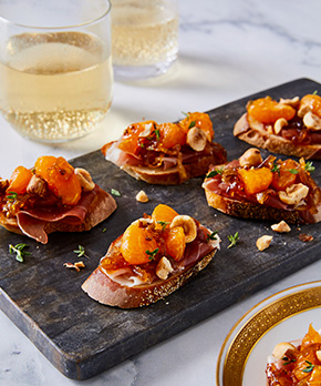 Mandarin and Prosciutto Crostini by Tara Teaspoon