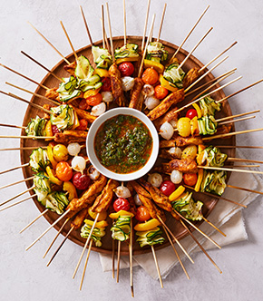 Moroccan Kebabs with Chermoula Sauce by Tara Teaspoon