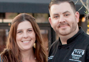 Sarah and Michael Cherney of peasants FEAST