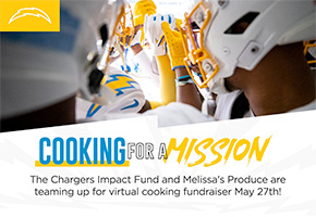 Chargers Cooking on a Mission