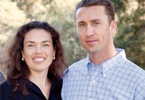 Heather Griffin and Brian Brakesman of Summit Lake Vineyards