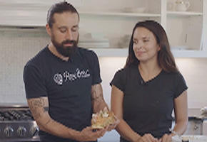 Andrew and Lauren Gruel making the Ultimate Lobster Roll on YouTube